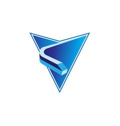 train location abstract arrow icon vector image