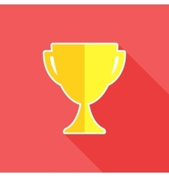 Trophy flat icon vector image