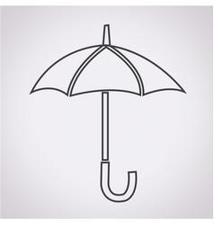 umbrella icon vector image