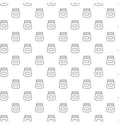 unique digital jars with honey seamless pattern vector image