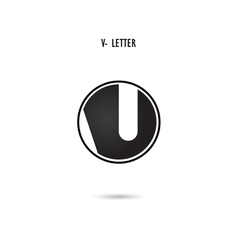 V-letter abstract logo design vector image