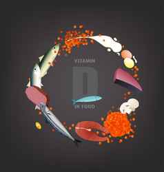 Vitamin d background vector