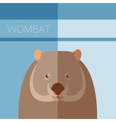 Wombat flat postcard vector image