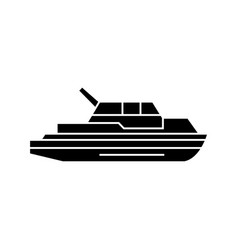 yacht black icon concept yacht sig vector image