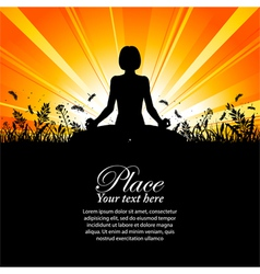yoga pose outdoors vector image