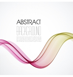 Abstract smoky waves background Template brochure vector image vector image