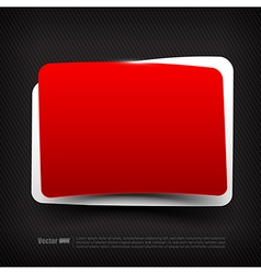 Blank red and white speech bubble layered 003 vector image vector image