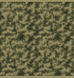 Military camouflage seamless pattern hexagonal vector