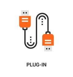 plug in icon vector image vector image