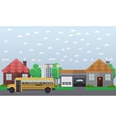 school bus going in the vector image