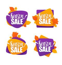 Season sale collection of bright autumn vector