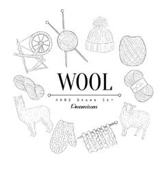 Wool Vintage Sketch vector image