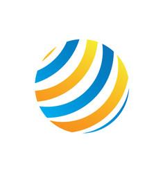 abstract technology globe logo image vector image