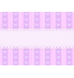 cute heart background vector image vector image
