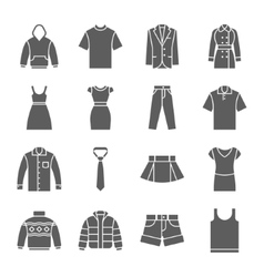 Fashion and clothes icons vector image vector image