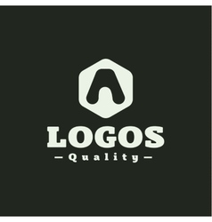 Logo letter A flat style vector image