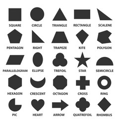 simple geometric shapes vector image