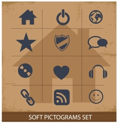 Web software pictogram symbols set isolated vector image vector image