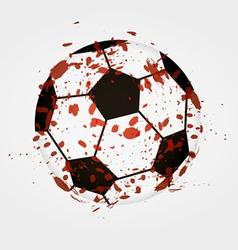 Dirty soccer ball vector image