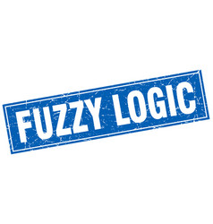 Fuzzy logic square stamp vector