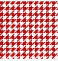 Red checkered texture restaurant seamless pattern vector
