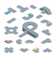 road element set isometric view vector image