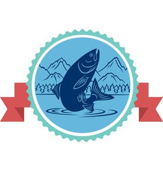 salmon fishing vector image