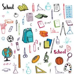 school doodle set vector image vector image