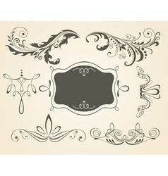 vintage scrolls and frame des vector image vector image