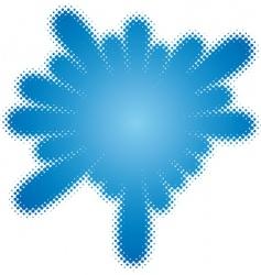 halftone splatter vector image vector image