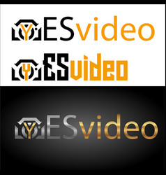 inscriptions yes video with the camera in vector image vector image