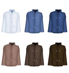 Plain long sleeve jacket template vector image