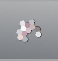 Abstract logo design honeycombs vector