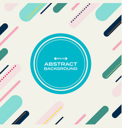 abstract of memphis colorful geometric pattern vector image