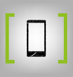 abstract style modern gadget with blank screen vector image
