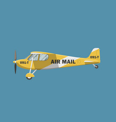 air mail plane vector image