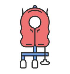 Aircraft passenger life vest color icon vector