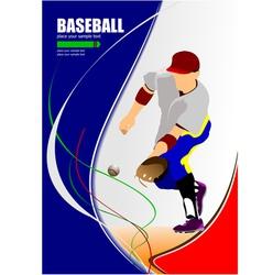 al 1008 baseball 02 vector image