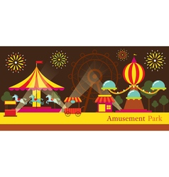 Amusement Park Carnival Fun Fair vector image