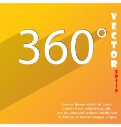 Angle 360 degrees icon symbol Flat modern web vector image