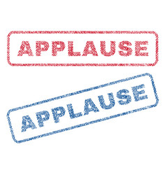 Applause textile stamps vector
