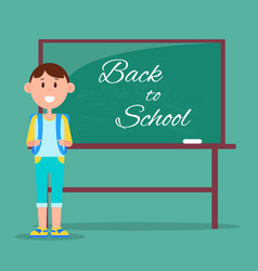 back to school multicolored vector image