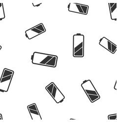 battery icon seamless pattern background business vector image vector image