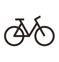 bicycle bike sign vector image