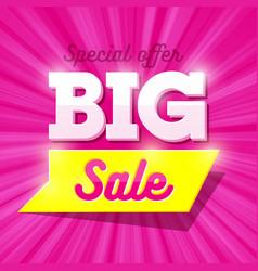 Big sale special offer banner vector