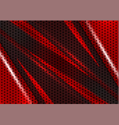 Black and red geometric abstract background with vector