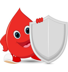 Blood guard cartoon vector