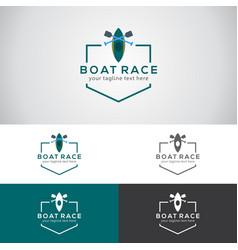 Boat race logo vector