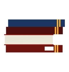 Book stack icon vector