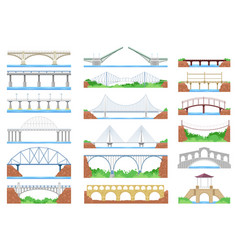 Bridge urban crossover architecture and vector